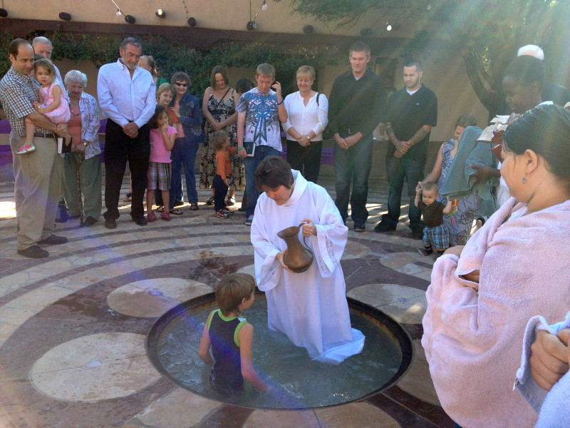 A baptism in the labyrinth