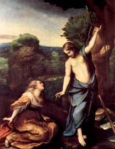 Correggio - Noli Me Tangere - (Do not hold me.) 1518