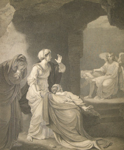 The Macklin Bible -- The Marys at the Sepulchre