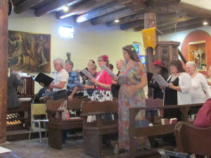 The Choir Sings at Easter