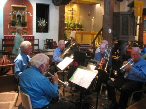Guest Musicians Play Brass
