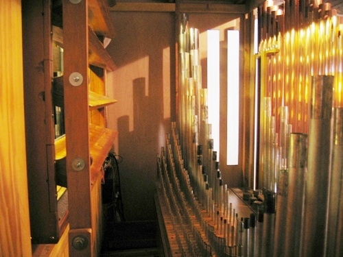 Organ pipes - behind the scenes - literally